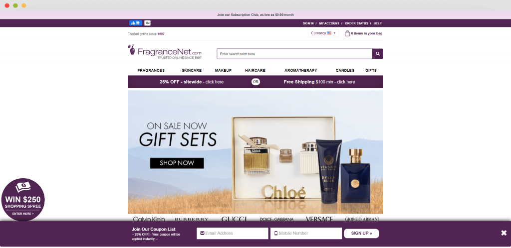 Figure 10 Dropshipping Supplier FragranceNet