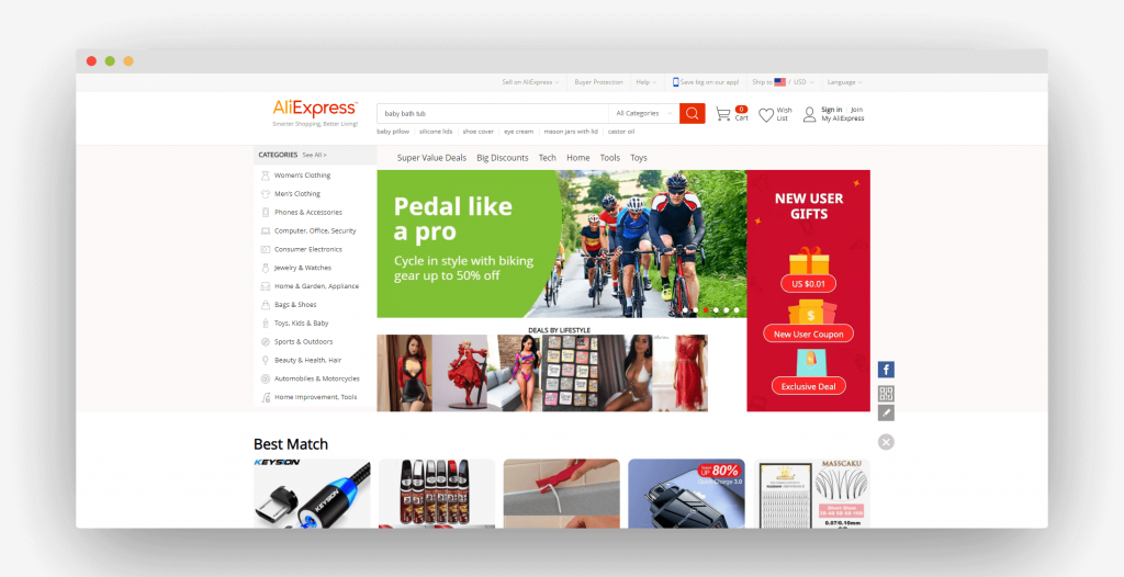 Figure 3 Best Dropshipping Suppliers AliExpress