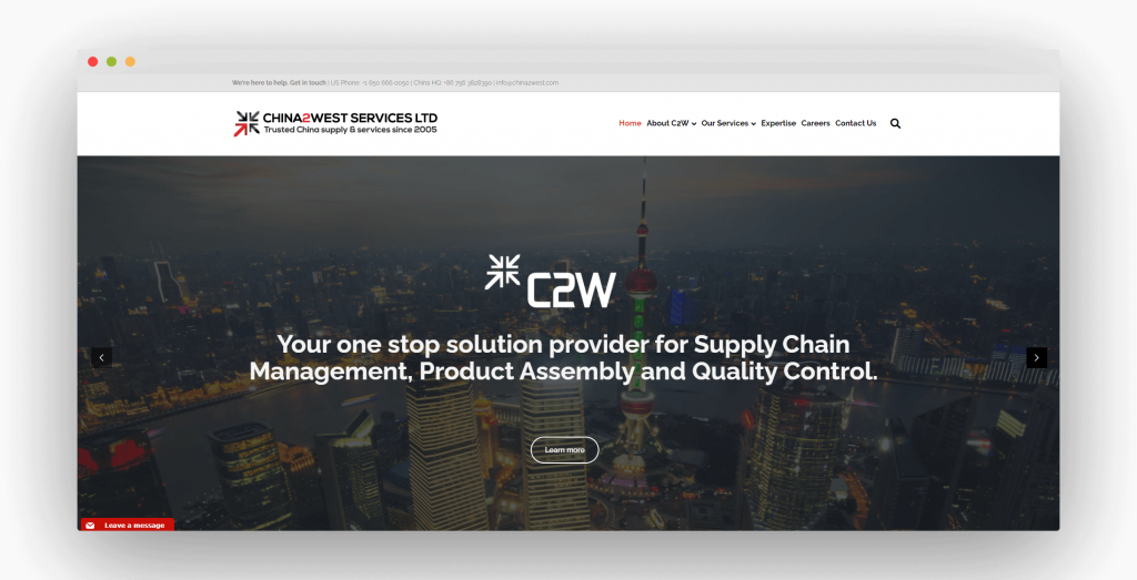 Figure 5 China Sourcing Agent China2West