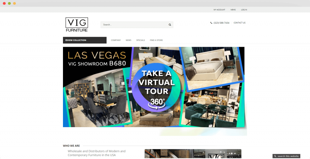 Figure 6 Dropshipping Supplier USA VIG Furniture