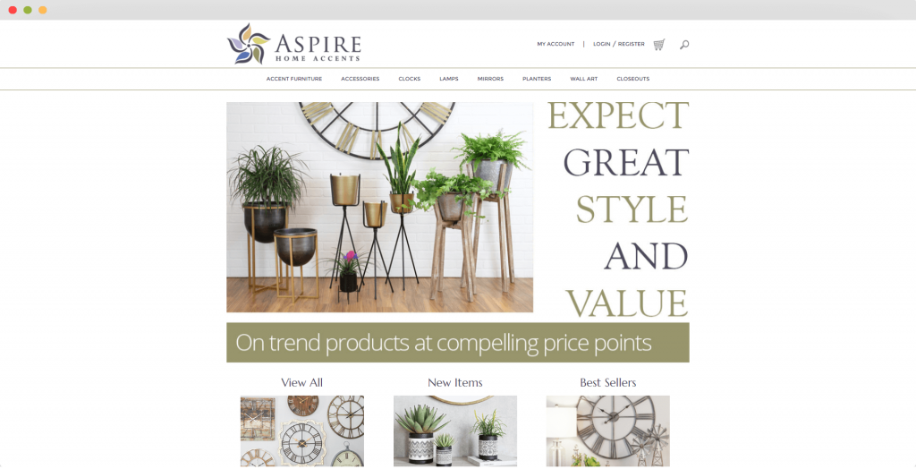 Figure 7 Dropshipping Supplier Aspire Home Accents