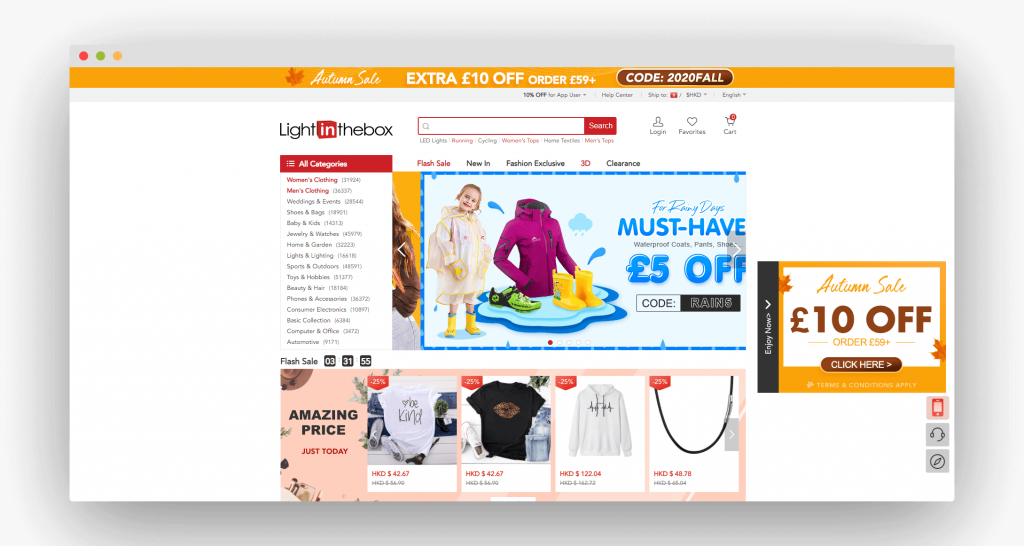 Figure 8 Best Dropshipping Suppliers LightInTheBox