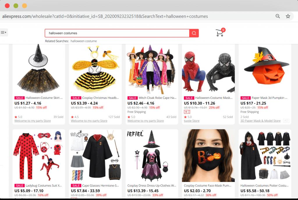 Figure 8 Halloween costumes