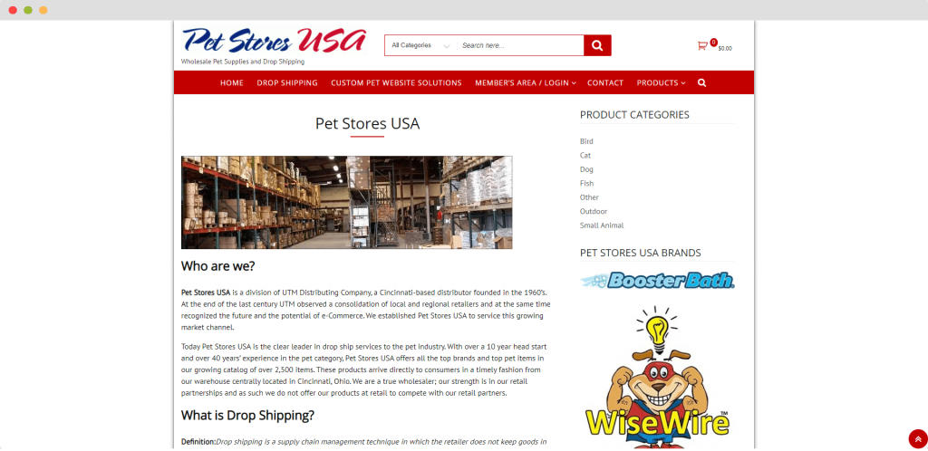 Figure 9 Dropshipping Supplier USA Pet Stores USA