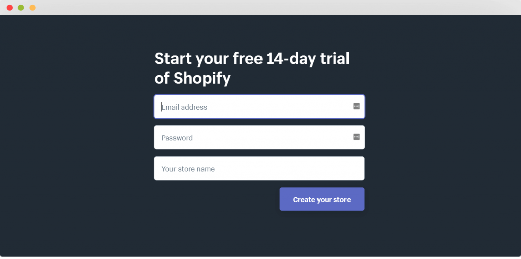 figure 7 - Shopify free trial