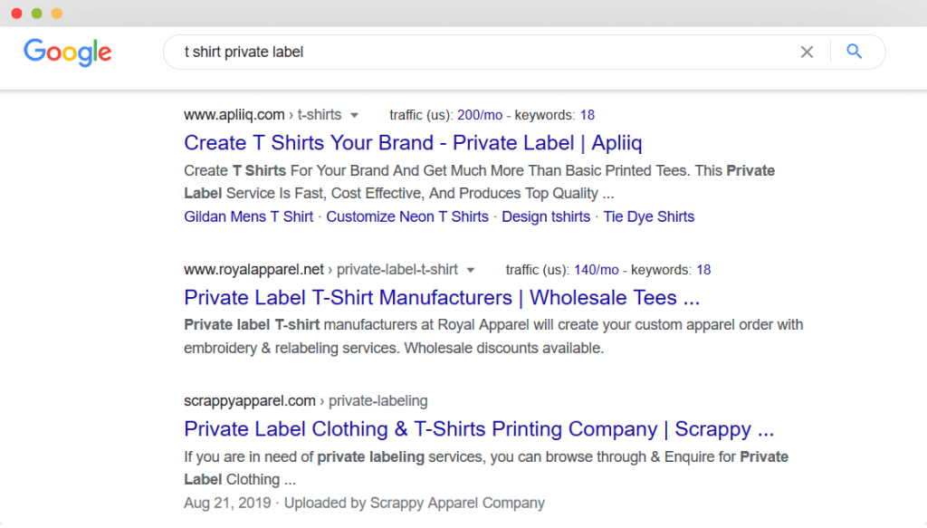 Figure 6 Find Private Label Dropshipping Suppliers on Google