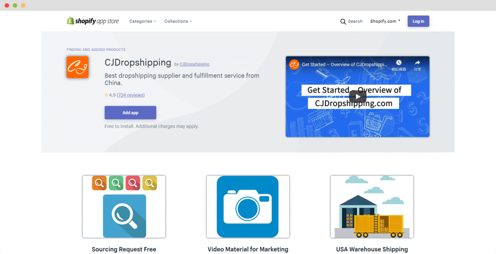 Figure 7 Shopify APP CJDropshipping