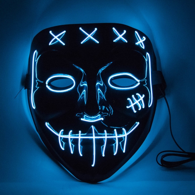 Halloween LED Glow Ghost Face Mask