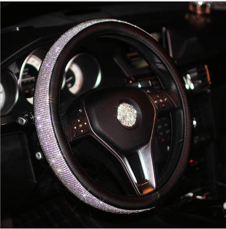 Rhinestones Car Steering Wheel Cover