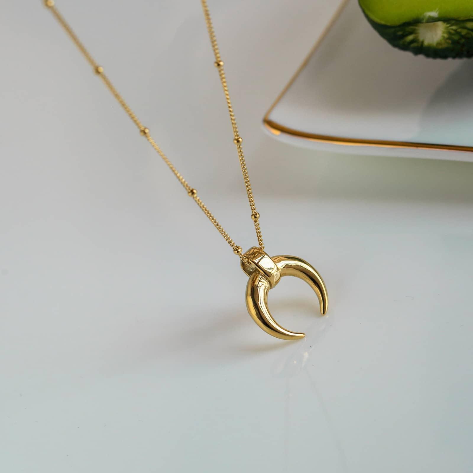 Crescent Pendant Necklaces