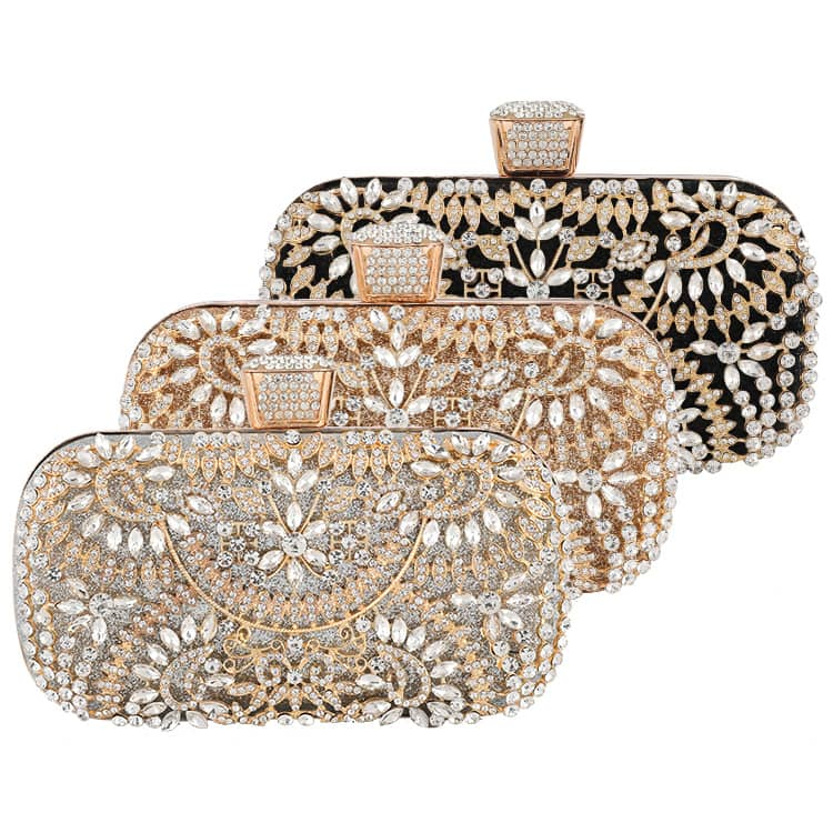 Diamond Evening Clutch Bag