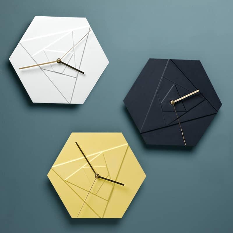 Simple Geometric Modern Wall Clock