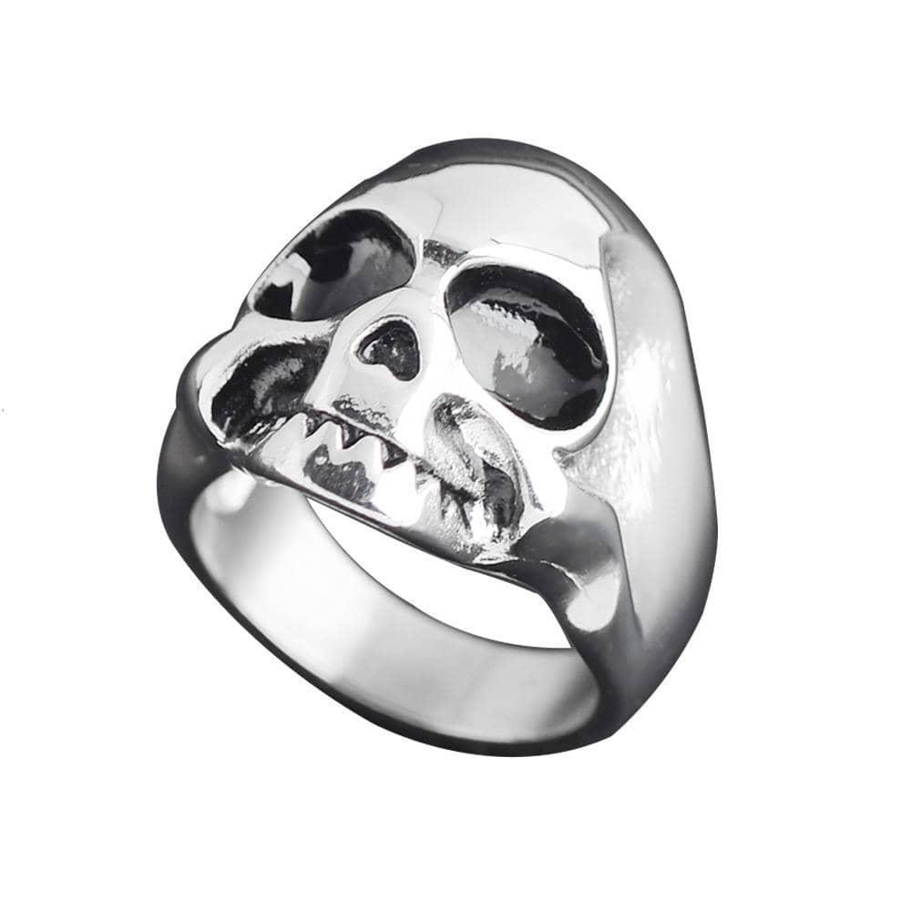 Stainless Steel Retro Skull Ring