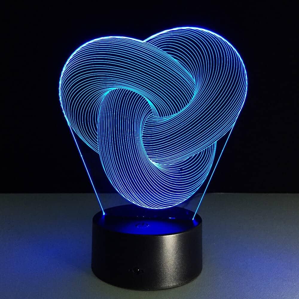 Twist Abstract LED 3D Mood Lamp