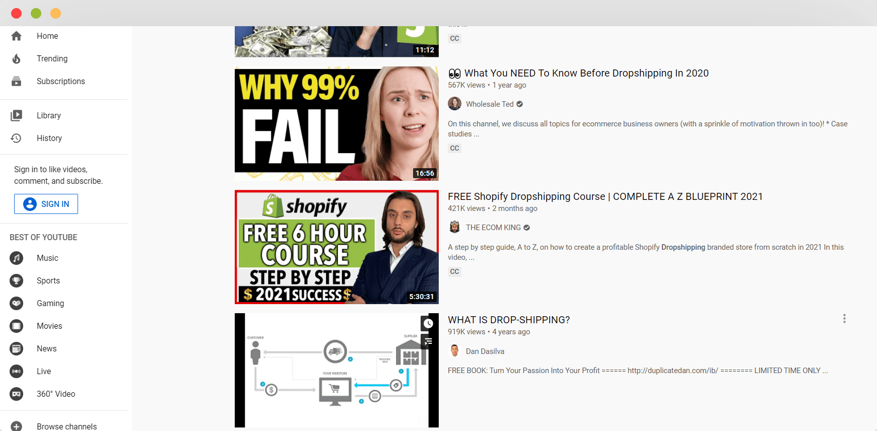 best dropshipping youtubers