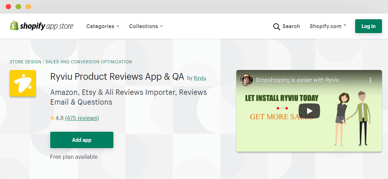 Ryviu Product Reviews App