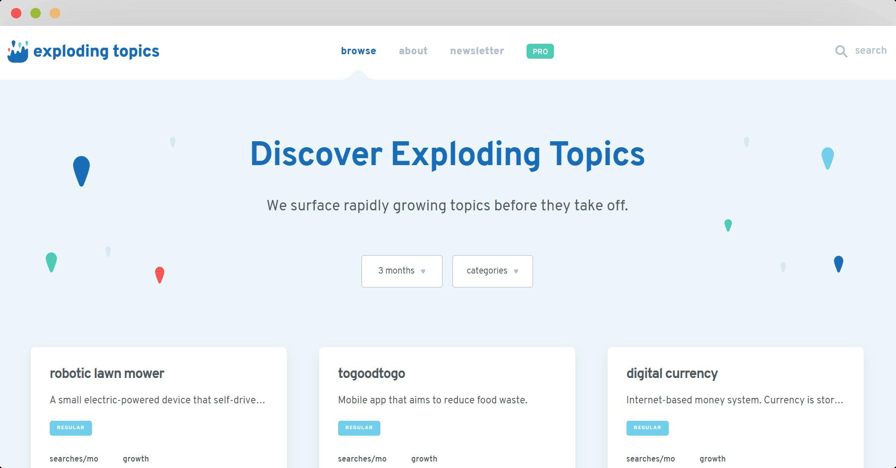 Figure 20 Exploding Topics