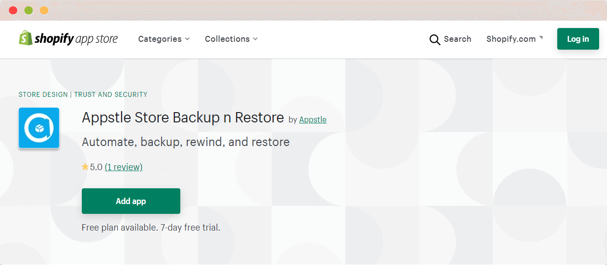Appstle Store Backup