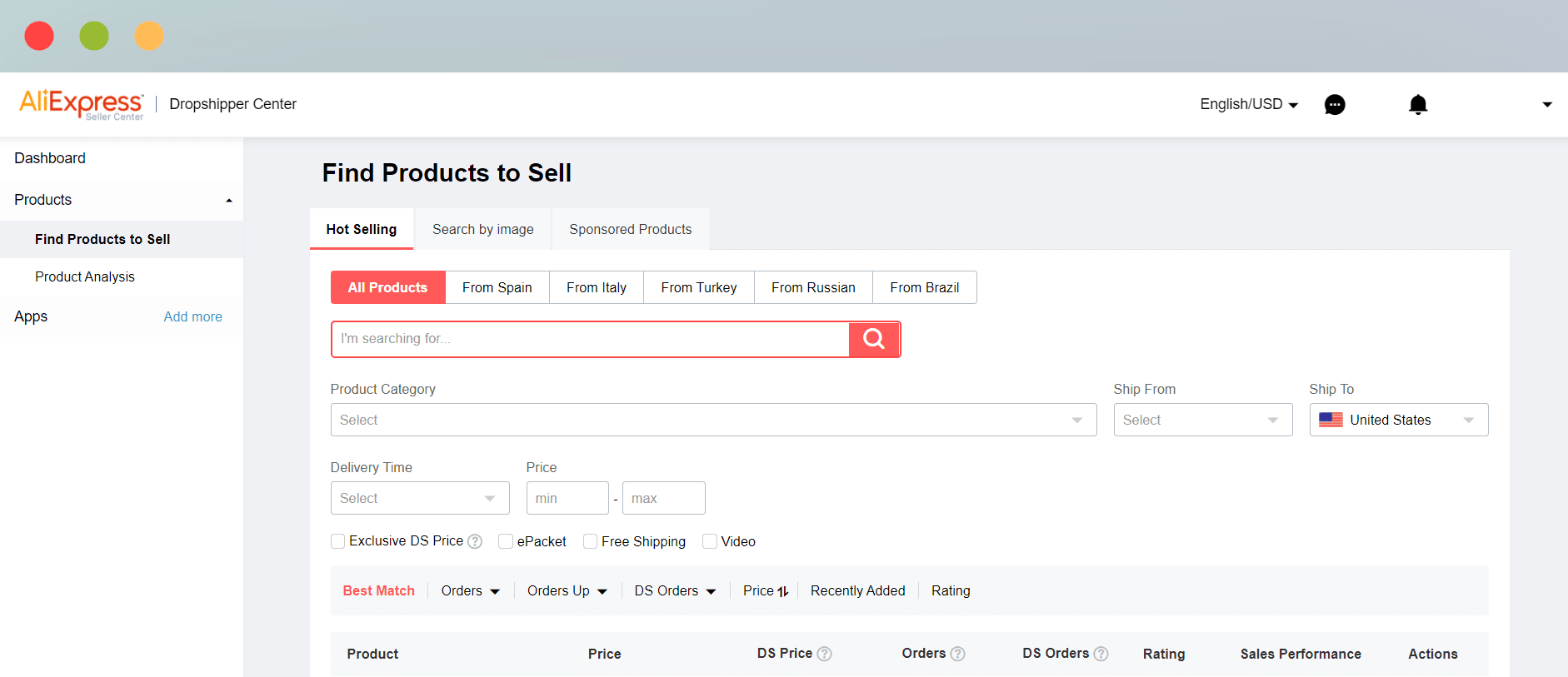 Hot Selling Product Search Feature