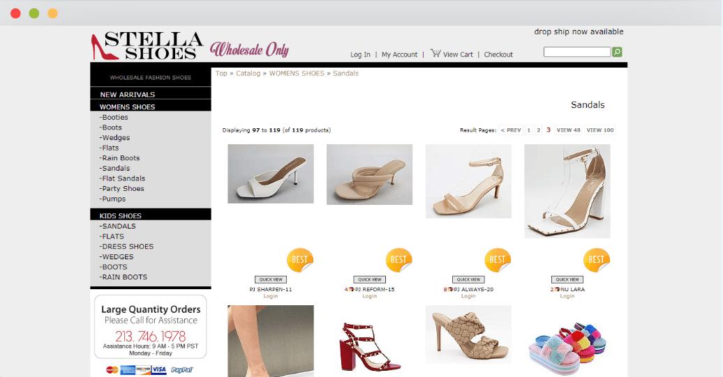 Wholesale Stella Shoes