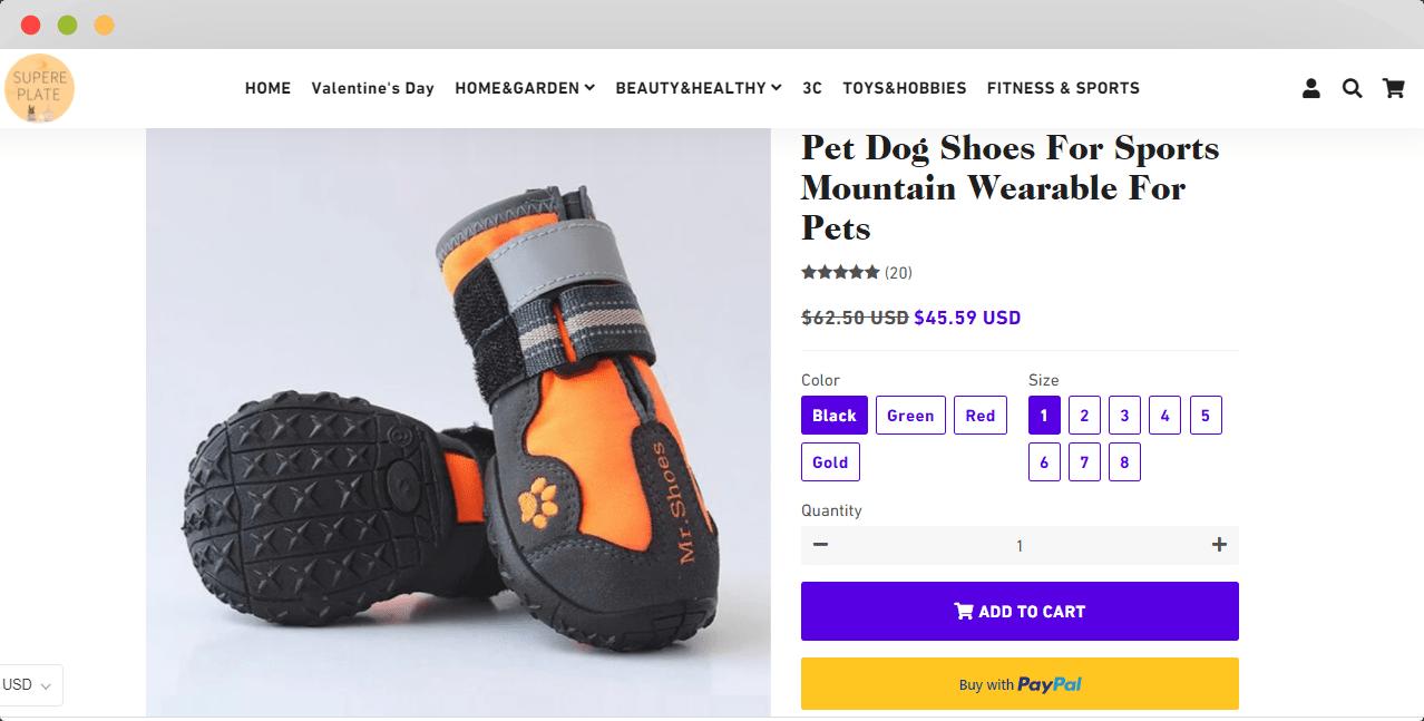 Pet Shoes Shopify