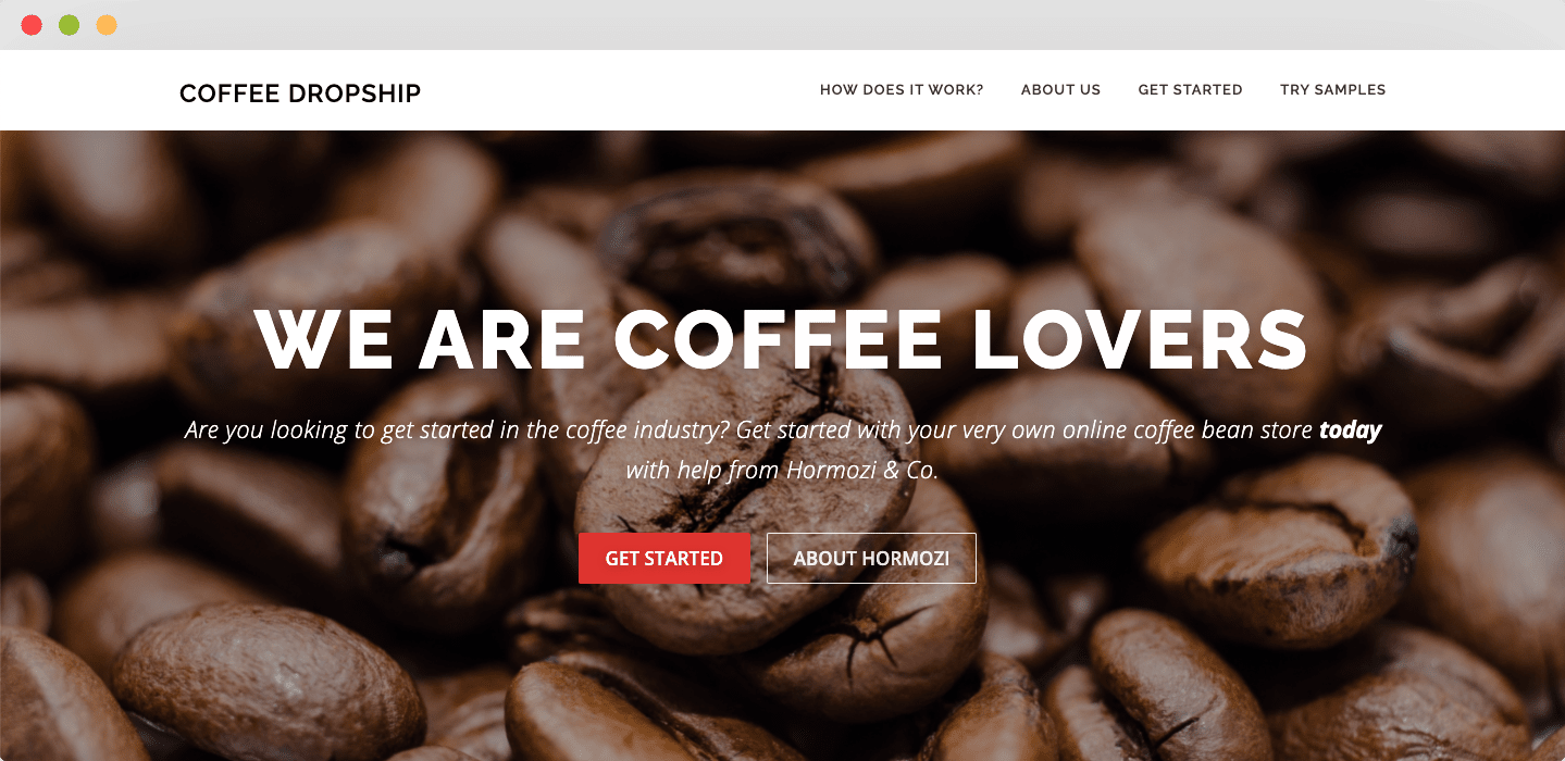 Coffee Dropship