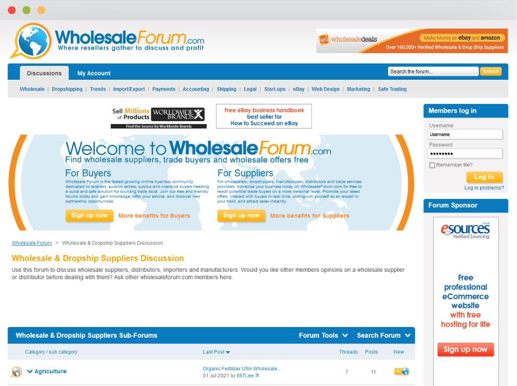 Wholesale Forum