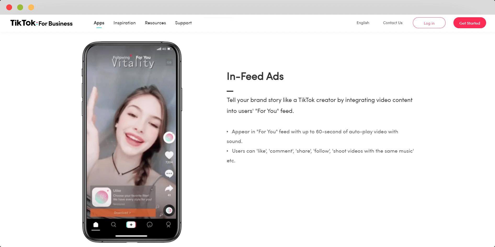 TikTok In-Feed Ads