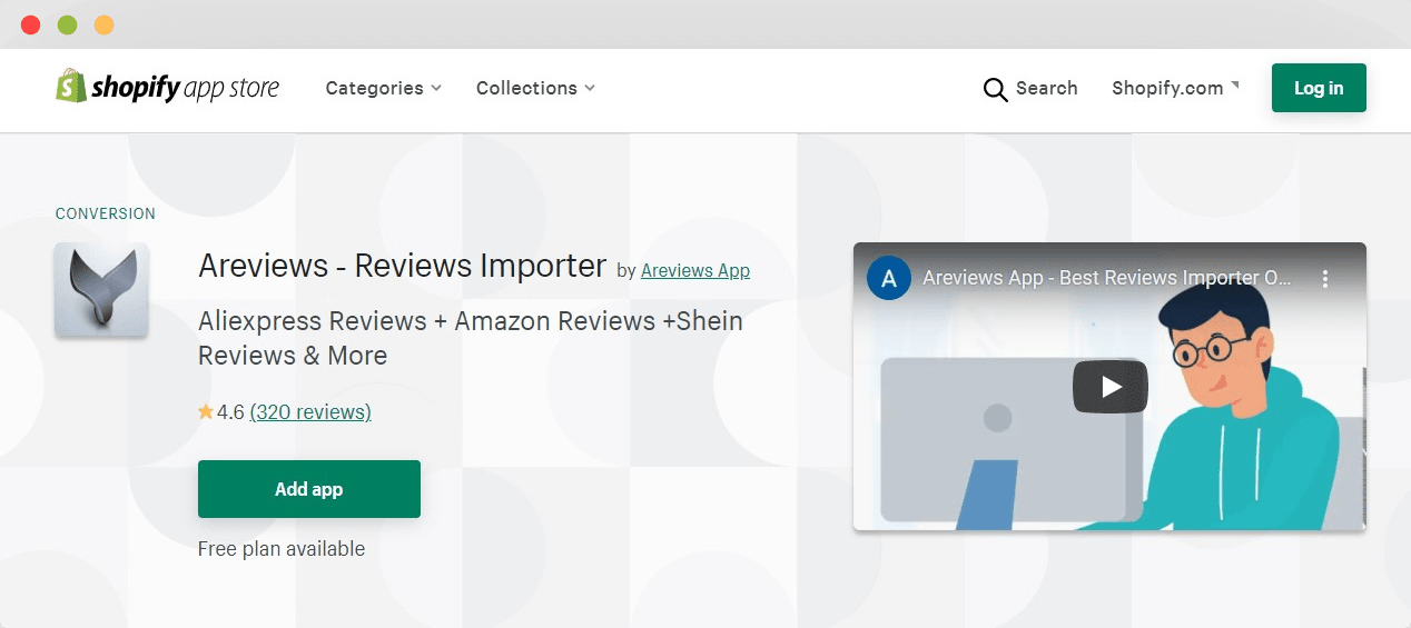 Areviews best review app for Shopify