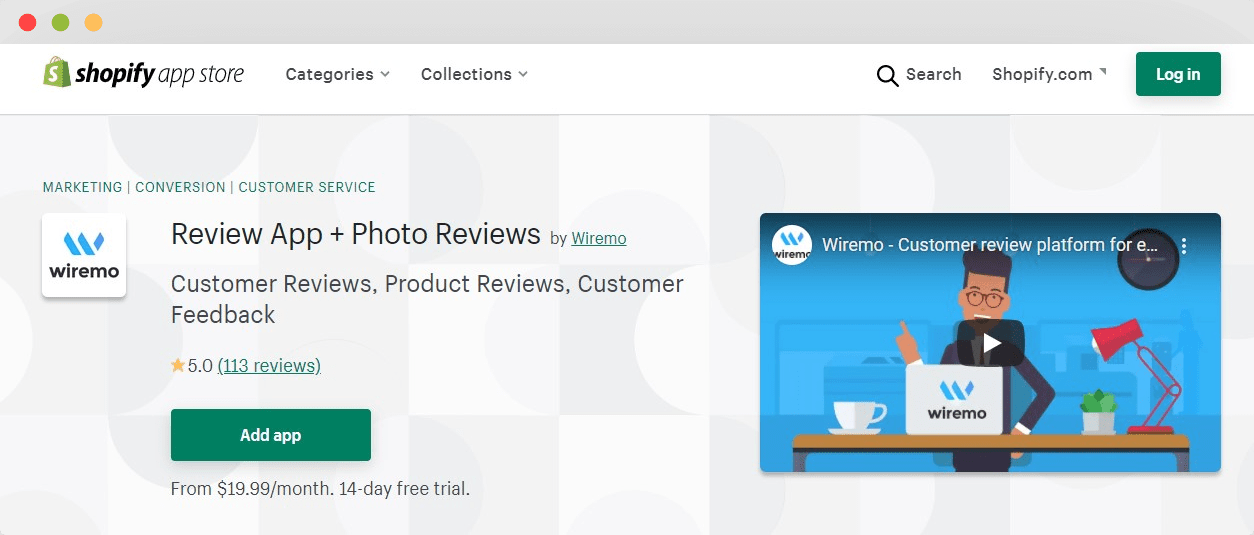 best review app for shopify by wiremo