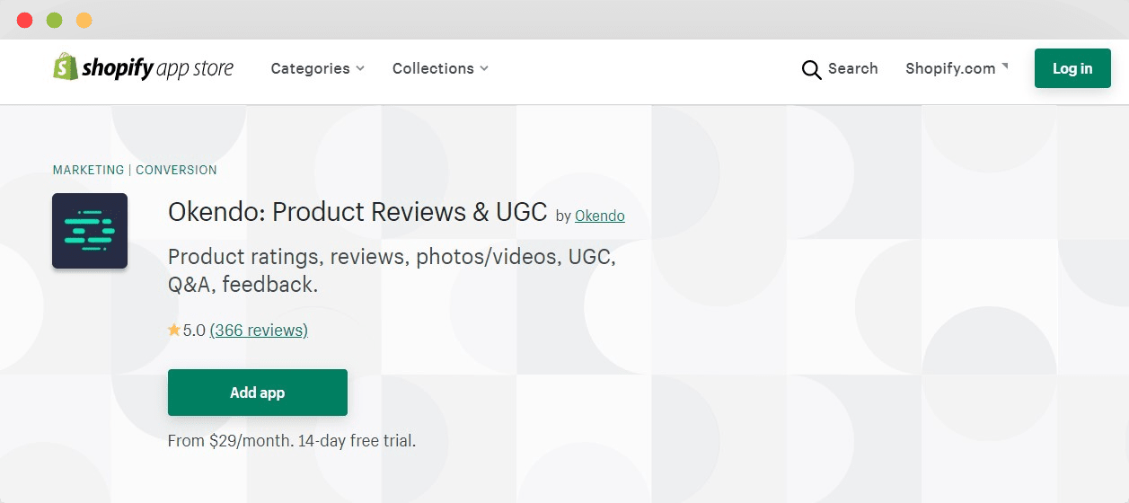 Okendo product reviews