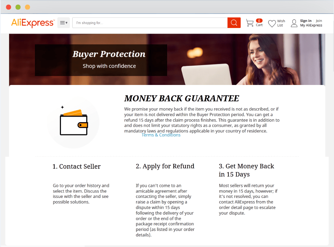 AliExpress Money Back Guarantee