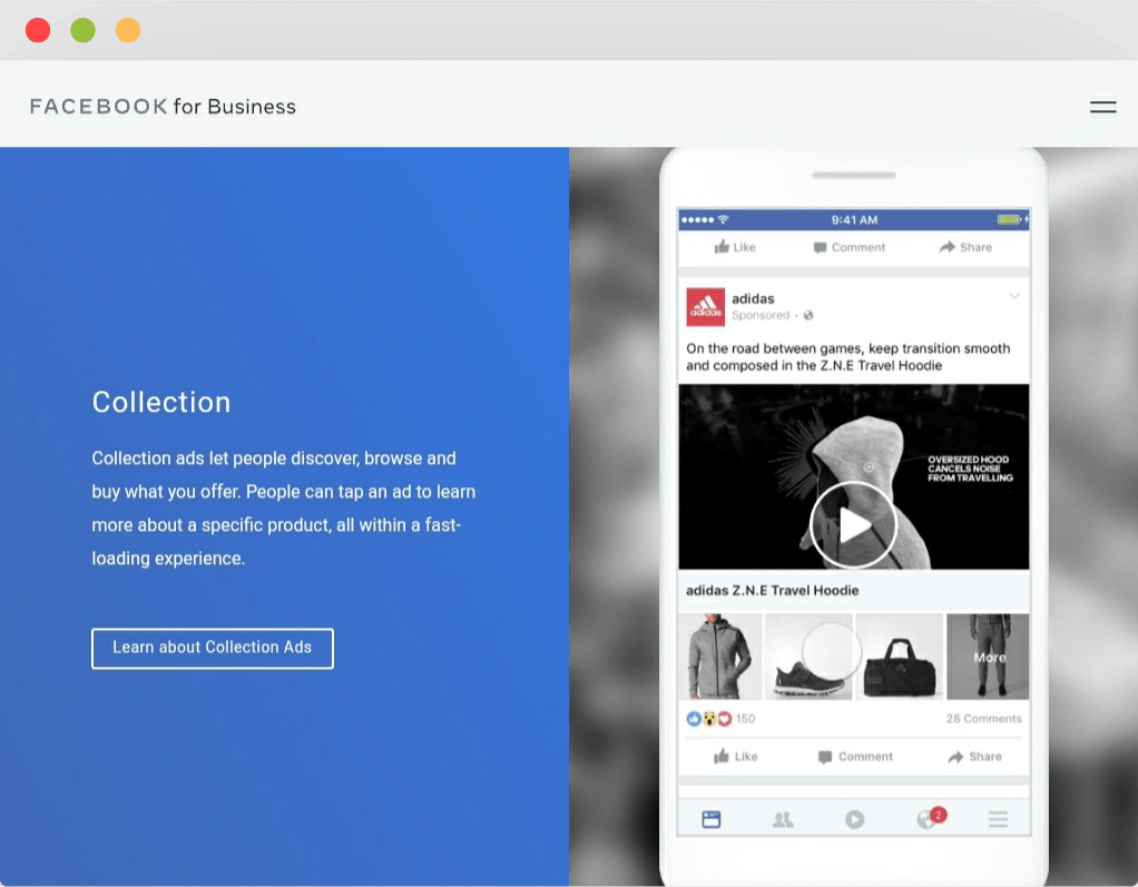 Collection ads