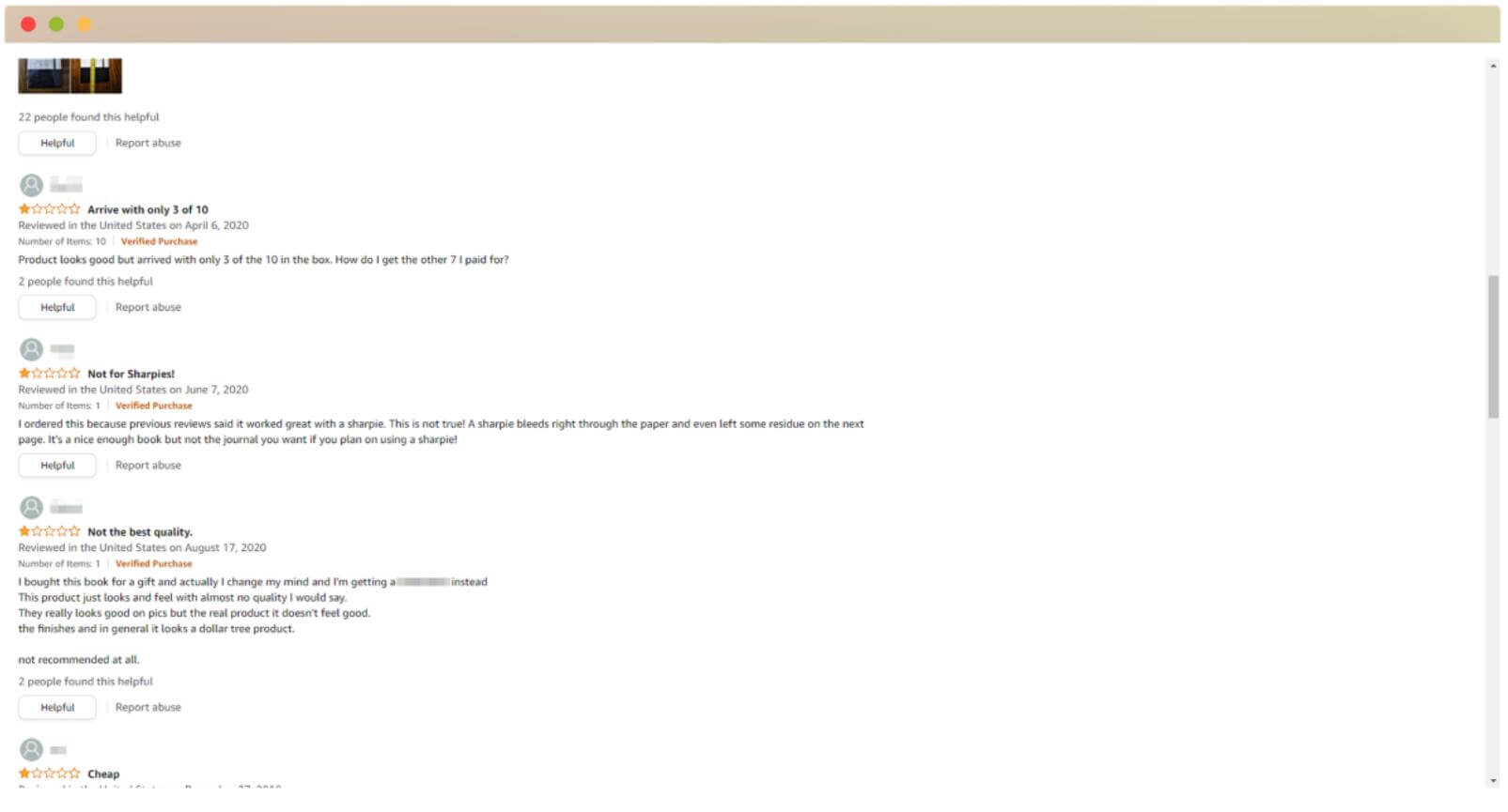amazon review screenshot