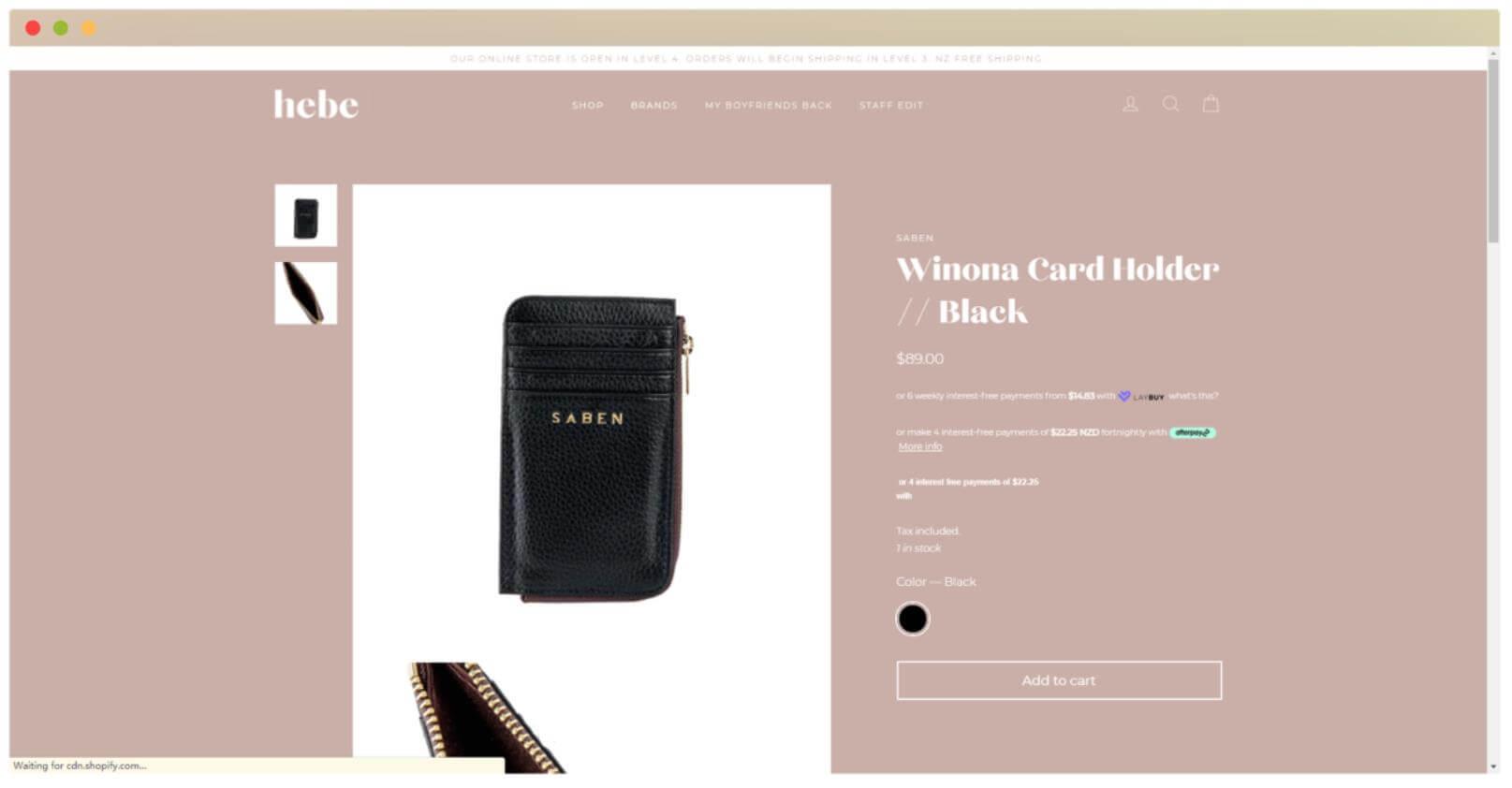 cool website design screenshot