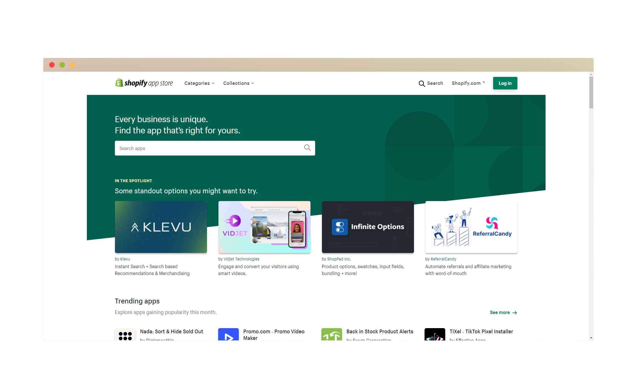 shopify appstore screenshot